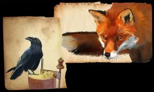 キツネfox-and-crow-228856_640