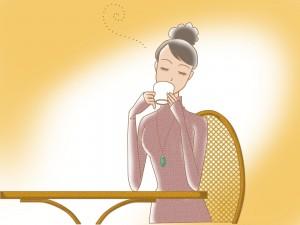 コーヒー美女093540