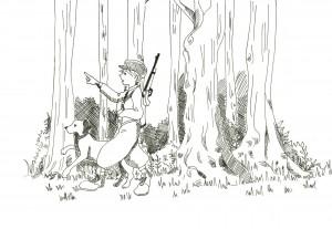 猟師と犬047465